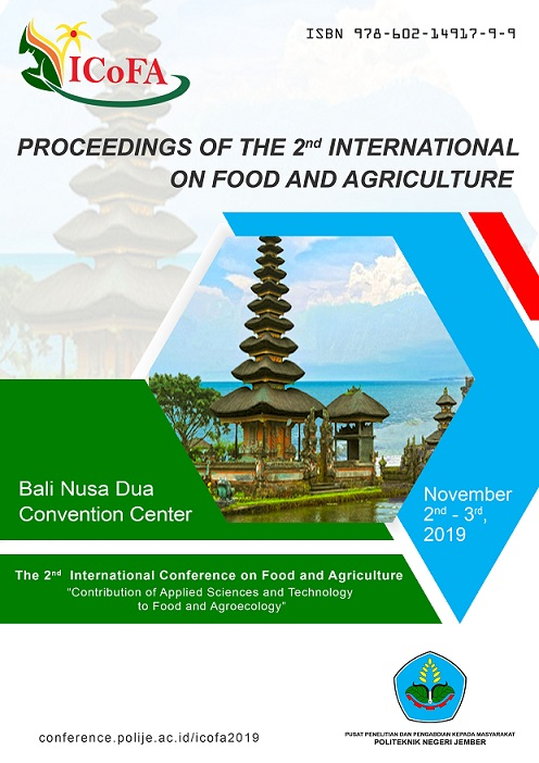 View Vol. 2 (2019): Proceeding of the 2nd International Conference on Food and Agriculture